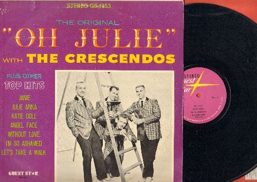 Crescendos - Oh Julie: Angel Face, Katie Doll, Without Love, Let's Take A Walk, Janie (vinyl STEREO LP record) - EX8/VG6 - 45 rpm Records