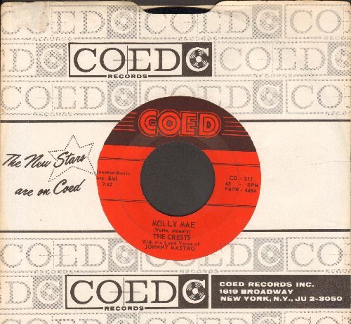 Crests - Molly Mae/Flower Of Love (red label first issue in MINT condition with cintage Coed company sleeve) - M10/ - 45 rpm Records