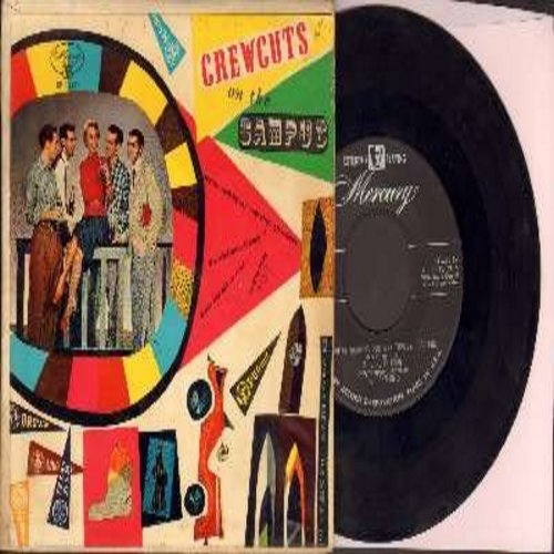 Crew-Cuts - Down The Old Ox Road/The Whiffenpoof Song/We're Working Our Way Through College/Varsity Drag (Vinyl EP record with picture cover) - VG7/VG7 - 45 rpm Records