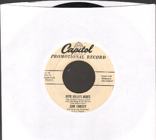 Christy, June - Pete Kelly's Blues/Kicks (DJ advance pressing)  - EX8/ - 45 rpm Records
