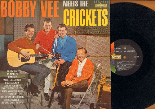 Vee, Bobby - Bobby Vee Meets The Crickets: Peggy Sue, Bo Diddley, Someday, Lucille, Girl Of My Best Friend, The Girl Can't Help It (Vinyl MONO LP record) - EX8/VG7 - LP Records