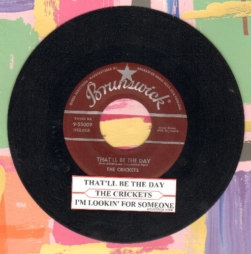 Crickets - That'll Be The Day/I'm Looking For Someone To Love (burgundy label first pressing) - EX8/ - 45 rpm Records