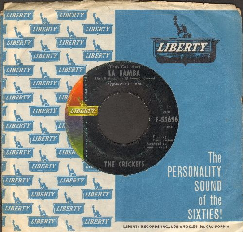 Crickets - (They Call Her) La Bamba/All Over You (with Liberty company sleeve) - EX8/ - 45 rpm Records