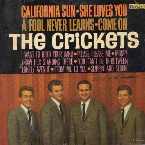 Crickets - The Crickets: California Sun, She Loves You, I Want To Hold Your Hand, Please Please Me, Slippin' And Slidin', I Saw Her Standing There, A Fool Never Learns (Vinyl MONO LP record) - VG7/VG6 - LP Records