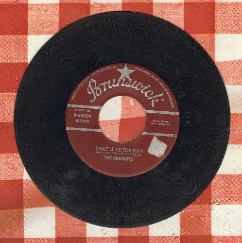 Crickets - That'll Be The Day/I'm Looking For Someone To Love (burgundy label first pressing) - VG6/ - 45 rpm Records