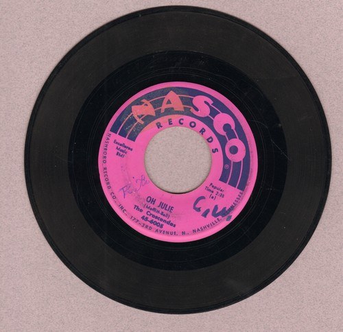 Crescendos - Oh Julie/My Little Girl (wol) - VG6/ - 45 rpm Records