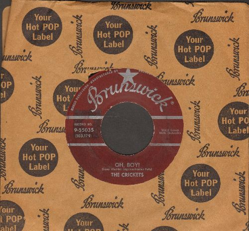 Crickets - Oh, Boy!/Not Fade Away (with RARE Brunswick company sleeve) - VG6/ - 45 rpm Records
