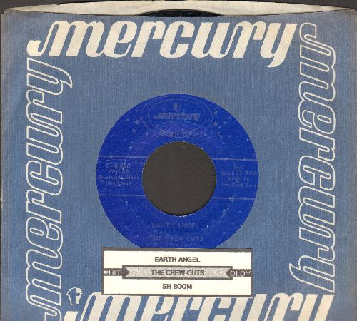 Crew-Cuts - Earth Angel/Sh-Boom (double-hit re-issue with juke box label and Mercury company sleeve) - EX8/ - 45 rpm Records