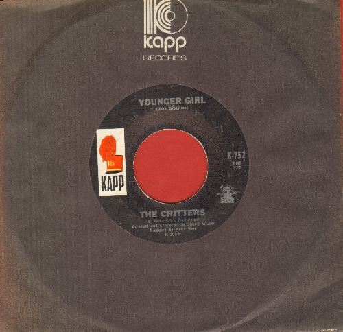 Critters - Younger Girl/Gone For Awhile (with Kapp company sleeve) - EX8/ - 45 rpm Records
