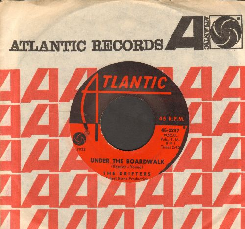 Drifters - Under The Boardwalk/I Don't Want To Go On Without You (with Atlantic company sleeve) - VG7/ - 45 rpm Records