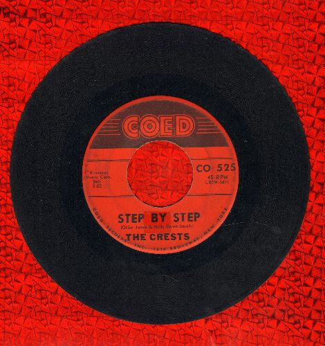 Crests - Step By Step/Gee  - VG7/ - 45 rpm Records