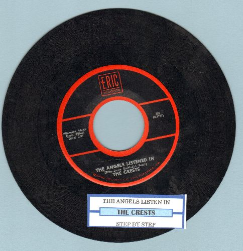 Crests - The Angels Listened In/Step By Step (double-hit re-issue with juke box label) - EX8/ - 45 rpm Records