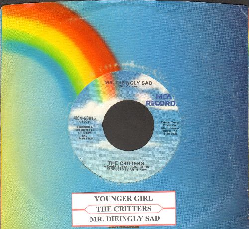 Critters - Younger Girl/Mr. Dieingly Sad (double-hit re-issue with juke box label and MCA company sleeve) - NM9/ - 45 rpm Records
