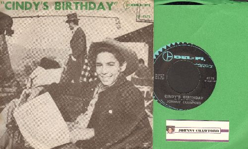 Crawford, Johnny - Cindy's Birthday/Something Special (with RARE picture sleeve) - EX8/EX8 - 45 rpm Records