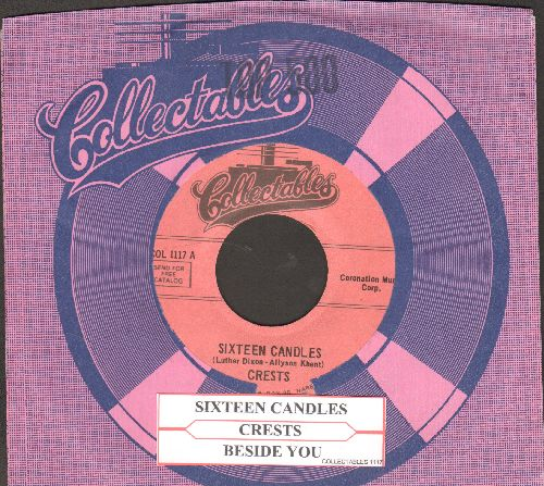 Crests - Sixteen Candles/Beside You (early re-issue with juke box label and Collectables company sleeve) - NM9/ - 45 rpm Records
