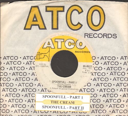 Cream - Spoonful (Parts 1 + 2) (with juke box label and Atco company sleeve) - EX9/ - 45 rpm Records