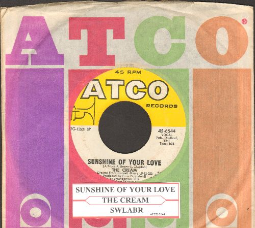 Cream - Sunshine Of Your Love/SWLABR (with Atco company sleeve and juke box label) - EX8/ - 45 rpm Records