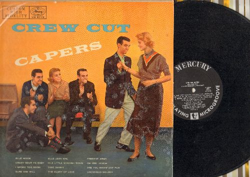 Crew Cuts - Crew Cut Capers: Blue Moon, In A Little Spanish Town, Unchained Melody, The Glory Of Love (vinyl MONO LP record, 1954 first pressing) - EX8/EX8 - LP Records