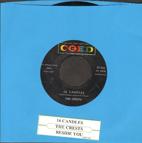 Crests - Sixteen Candles/Beside You (black label/multi-color logo with juke box label) - EX8/ - 45 rpm Records