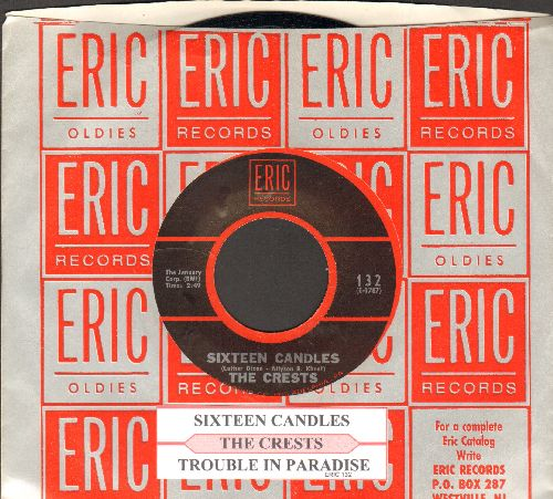 Crests - Sixteen Candles/Trouble In Paradise (early double-hit re-issue wiyj juke box label and company sleeve) - NM9/ - 45 rpm Records