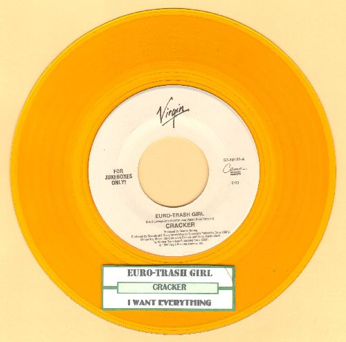 Cracker - Euro-Trash Girl/I Want Everything (Remix Edit) (Yellow Vinyl pressing with juke box label) - NM9/ - 45 rpm Records