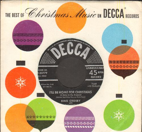 Crosby, Bing - I'll Be Home For Christmas/Faith Of Our Fathers (black label/silver lines early issue with Decca company sleeve) - EX8/ - 45 rpm Records