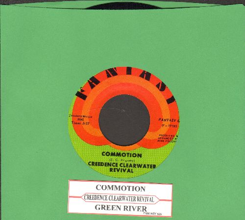 Creedence Clearwater Revival - Commotion/Green River (with juke box label) - NM9/ - 45 rpm Records