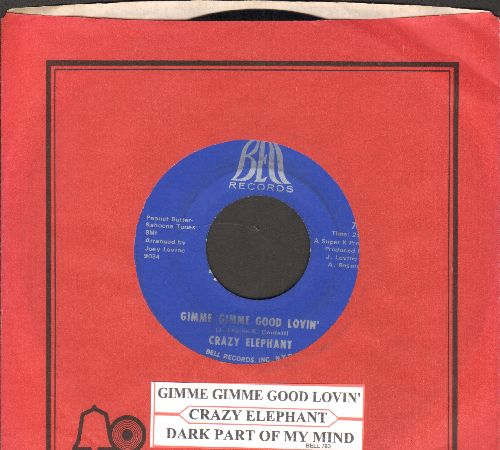Crazy Elephant - Gimme Gimme Good Lovin'/Dark Part Of My Mind (with juke box label and vintage Bell company sleeve) - NM9/ - 45 rpm Records