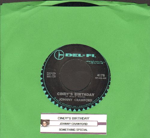 Crawford, Johnny - Cindy's Birthday/Something Special (with juke box label) - EX8/ - 45 rpm Records