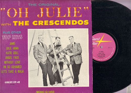 Crescendos - Oh Julie: Angel Face, Katie Doll, Without Love, Let's Take A Walk, Janie (vinyl MONO LP record) - NM9/EX8 - 45 rpm Records