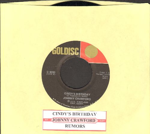 Crawford, Johnny - Cincy's Birthday/Rumors (double-hit re-issue with juke box label) - M10/ - 45 rpm Records