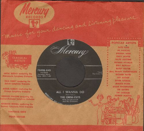 Crew-Cuts - The Barking Dog/All I Wanna Do (NICE condition with vintage Mercury company sleeve) - NM9/ - 45 rpm Records