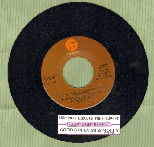 Creedence Clearwater Revival - I Heard It Through The Grapevine/Good Golly Miss Molly (with juke box label) - NM9/ - 45 rpm Records