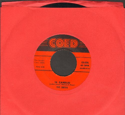 Crests - Sixteen Candles/Beside You (red label first issue) - EX8/ - 45 rpm Records