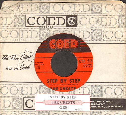 Crests - Step By Step/Gee (with juke box label and RARE vintage Coed company sleeve) - EX8/ - 45 rpm Records