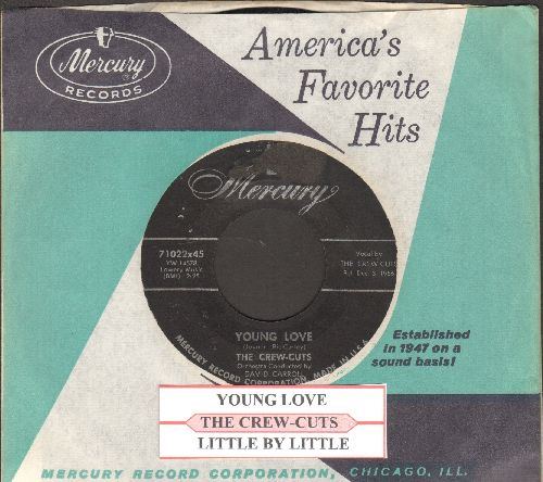 Crew-Cuts - Young Love/Little By Little (with juke box label and vintage Mercury company sleeve) - EX8/ - 45 rpm Records