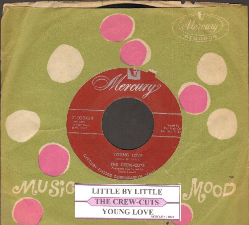 Crew-Cuts - Young Love/Little By Little (with juke box label and vintage Mercury company sleeve) - VG7/ - 45 rpm Records