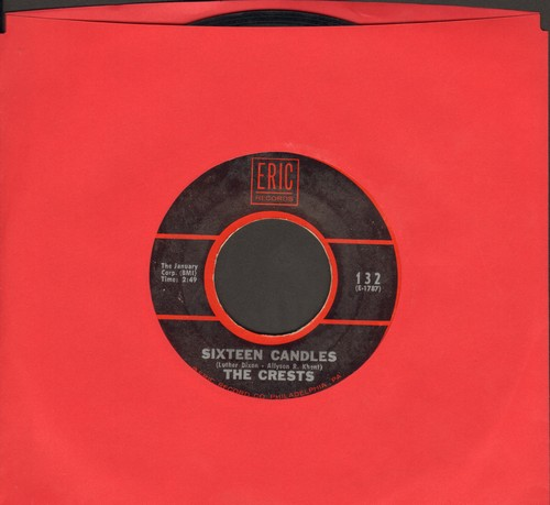 Crests - Sixteen Candles/Trouble In Paradise (arly double-hit re-issue) - EX8/ - 45 rpm Records