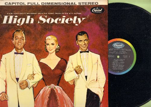 Kelly, Grace, Frank Sinatra, Bing Crosby, Louis Armstrong - High Society: Original Sound Track from MGM Film, includes love theme True Love by Bing Crosby and Grace Kelly and title song by Louis Armstrong (Vinyl MONO LP record, NICE condition!) - NM9/EX8
