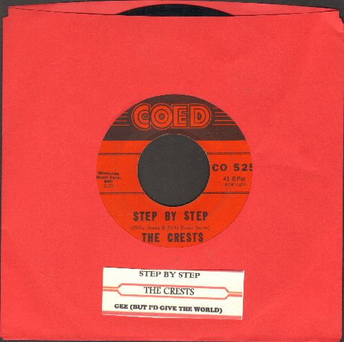 Crests - Step By Step/Gee (with juke box label) - EX8/ - 45 rpm Records