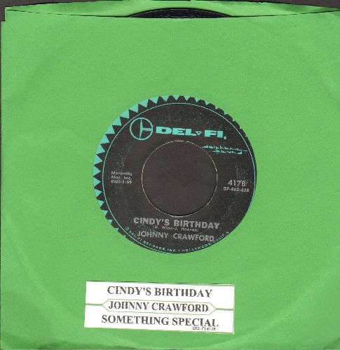 Crawford, Johnny - Cindy's Birthday/Something Special (with juke box label) - VG7/ - 45 rpm Records