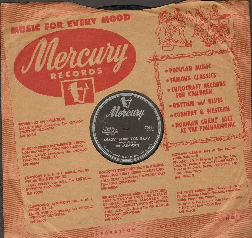 Crew-Cuts - Crazy 'Bout Ya Baby/Angela Mia (RARE 10 inch 78rpm record with Mercury company sleeve) - VG7/ - 45 rpm Records
