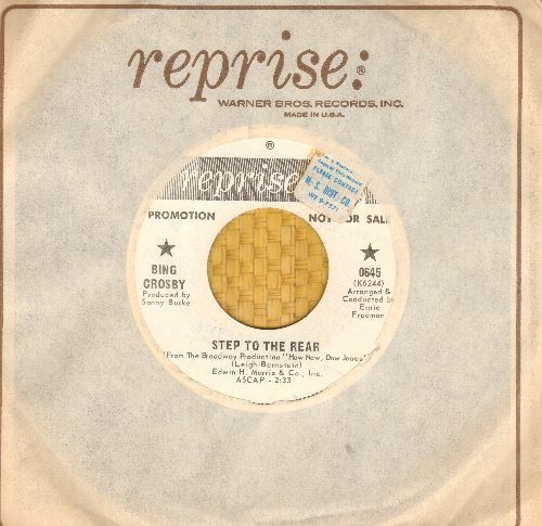 Crosby, Bing - Step To The Rear/What Do We Do With The World? (DJ advance pressing with vintage Reprise company sleve)(sol) - NM9/ - 45 rpm Records