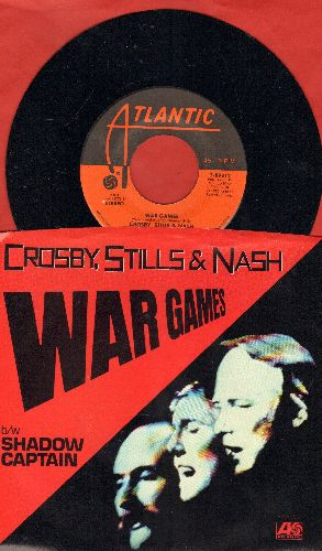 Crosby, Stills & Nash - War Games/Shadow Captain (with picture sleeve) - NM9/NM9 - 45 rpm Records