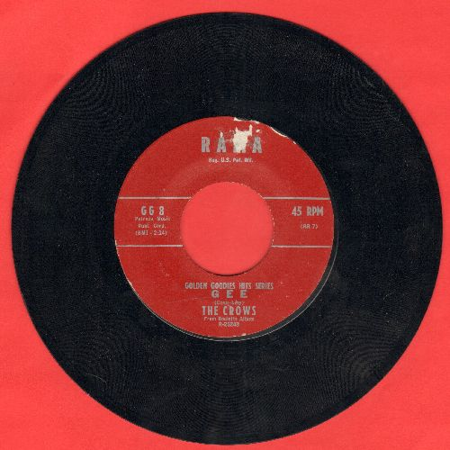Crows - Gee/Baby (red label early double-hit re-issue) - NM9/ - 45 rpm Records