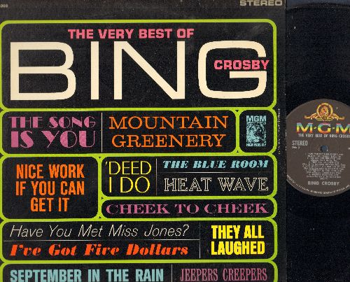 Crosby, Bing - The Very Best Of: Cheek To Cheek, September In The Rain, Nice Work If You Can Get It, Jeepers Creepers (vinyl STEREO LP record) - NM9/EX8 - LP Records