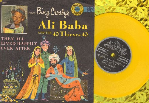 Crosby, Bing - Ali Baba And The 40 Thieves 40/They All Lived Happily Ever After (5 inch 78rpm Little Golden Record with picture sleeve) - VG7/EX8 - 78 rpm