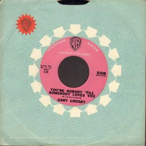 Crosby, Gary - You're Nobody 'Til Somebody Loves You/Baby Won't You Please Come Home (with vintage Warner Brothers company sleeve) - EX8/ - 45 rpm Records