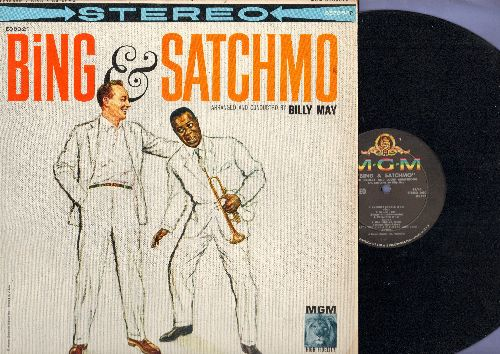 Crosby, Bing & Louis Armstrong - Bing & Satchmo: Way Down Yonder In New Orleans, Little Ol' Tune, Muskrat Ramble, Bye Bye Blues (vinyl STEREO LP record) - NM9/NM9 - LP Records