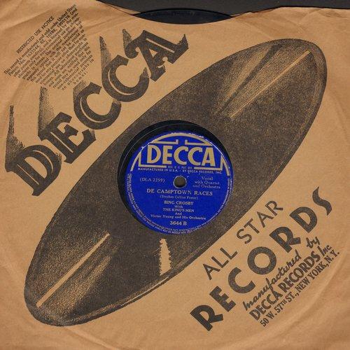 Crosby, Bing - De Camptown Races (Doo Da Doo Da Day)/Dolores (10 inch 78rpm record with Decca company sleeve) - VG6/ - 78 rpm